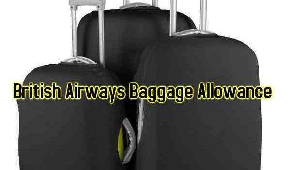 British Airways Baggage Allowance Info