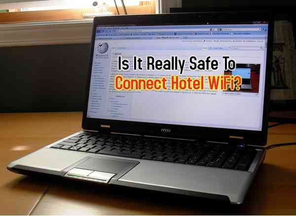 Laptop Connects to Hotel WiFi