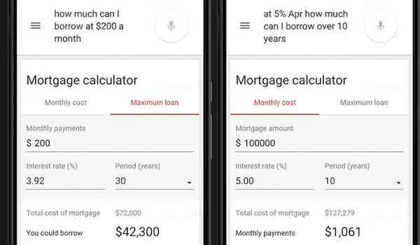 Google Mortgage Calculator