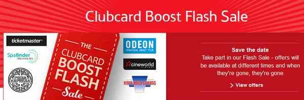 Tesco Clubcard Boost Flash Sale 2015