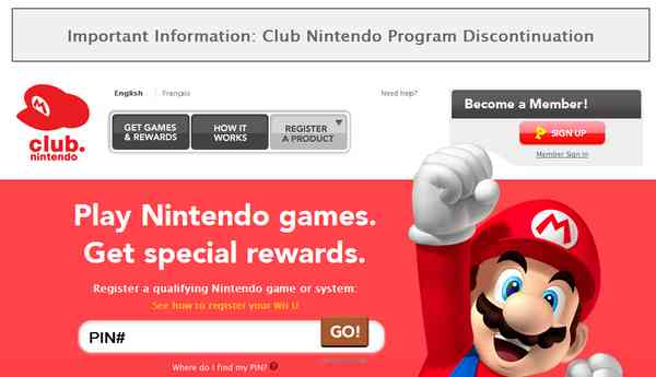 Club Nintendo Program Discontinuation