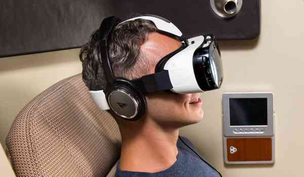 Samsung inflight virtual reality headset