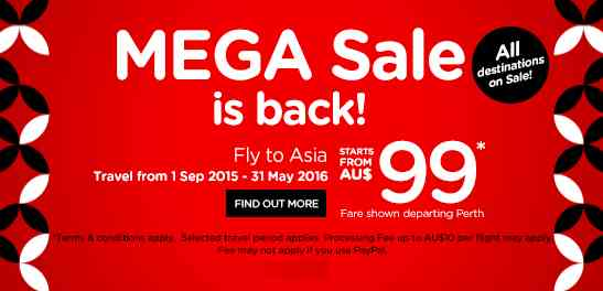 AirAsia Mega Sale Promotion March 2015