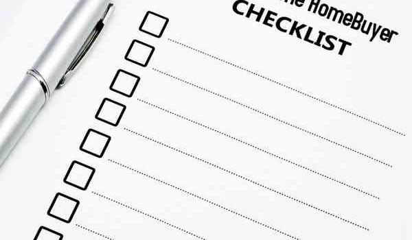 First Time Homebuyer Checklist