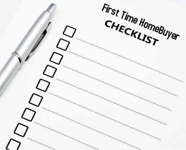 First Time Homebuyer Checklist