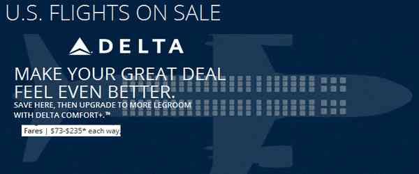 Delta Airlines Spring Sale April 2015