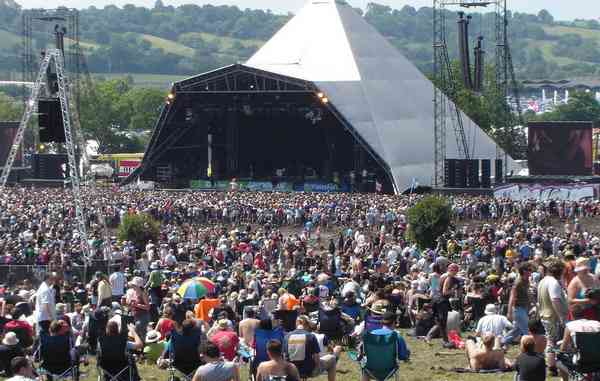 Glastonbury music festival England