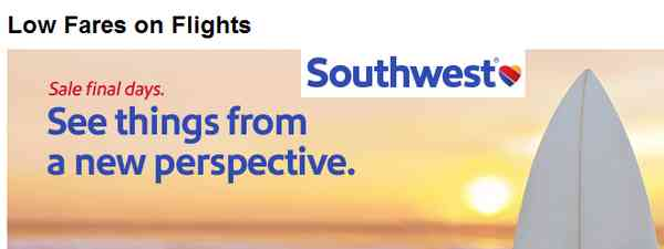 Southwest Domestic Travel Deals