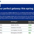 United Airlines Spring Fare Sale April 2015