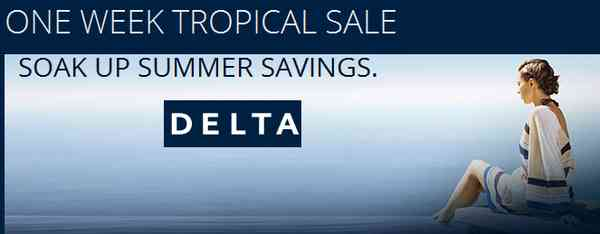 Delta One Week Tropical Sale