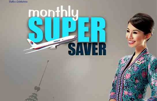 Malaysia Airlines Monthly Super Saver Promotion