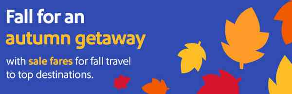 Southwest Delta American Airlines Fall Flights Sale