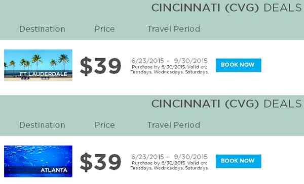 Frontier Airlines Cincinnati Deals