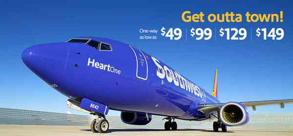Southwest 3 Day Flight Sale