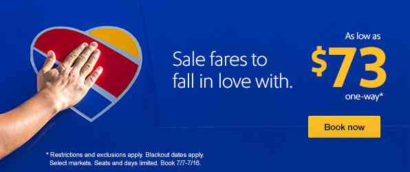 Southwest Airlines Nationwide July Sale