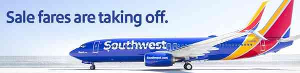 Southwest New Service Sale