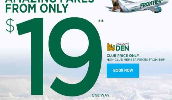 Frontier Amazing Fares From $19