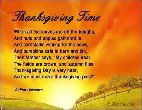 Happy Thanksgiving Poems & Prayer 1