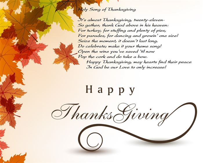 Happy Thanksgiving Poems & Prayer 4